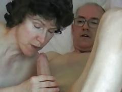 Mature couple grandpa big fat cock
